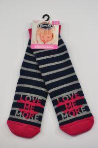 """Теплі шкарпетки для дівчинки """"Love"""" (темно-сині), Pompea."""