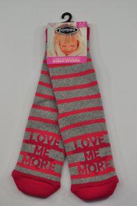 """Теплі шкарпетки для дівчинки """"Love"""" (сірі), Pompea."""