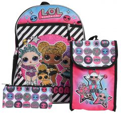 Набір L.O.L. SURPRISE (рюкзак, сумка для обіду, пенал), LOCF369AJ