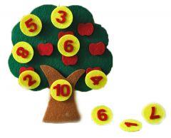 """Розвиваюча гра з фетру """"Деревце з цифрами"""", Діамантові ручки 120563"""