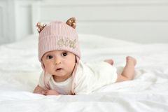 """Трикотажна шапка """"Ейві"""" для дівчинки (рожева) 20.04.014"""