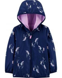 Двостороння куртка з флісом для дівчинки