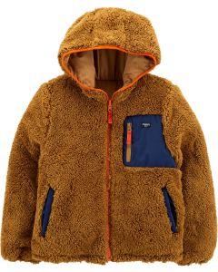 Двостороння курточка з шерпою для хлопчика
