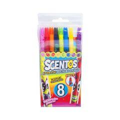 Набор ароматних воскових олівців для малювання - ВЕСЕЛКА, Scentos 41102