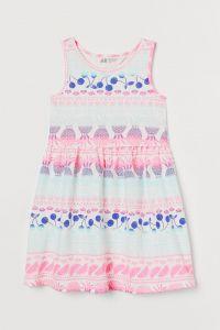 Трикотажне плаття з принтом для дівчинки