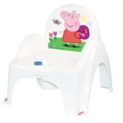 """Дитячий горщик """"Свинка Пеппа"""" з протиковзкою гумкою білий з рожевим, PP-010-103-R/FA-010-103-R"""