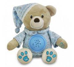 Плюшевий музикальний проектор - ведмедик (блакитний), Baby Mix TE-8465-30P