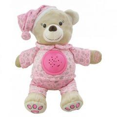 Плюшевий музикальний проектор - ведмедик (рожевий), Baby Mix TE-8465-30P