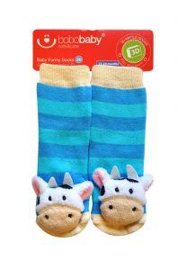 Шкарпетки з 3D нашивкою корівки, 12-24 міс., BS-41, BoboBaby