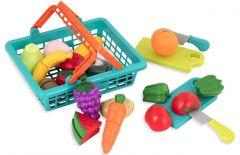 Ігровий набір - Овочі та фрукти на липучках, Battat BT2534Z