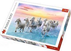 """Пазли """"Білі коні в галопі"""" Trefl 37289"""