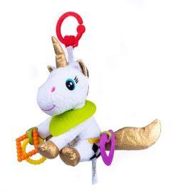"""М'яка іграшка з гризунцем Єдиноріг """"Белла"""" серія """"Активне життя"""" Balibazoo 80180"""