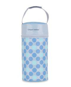 Термоупаковка, термос для дитячої пляшечки (блакитний горох), Canpol Babies 69/010