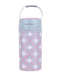 Термоупаковка, термос для дитячої пляшечки (рожевий горох), Canpol Babies 69/010