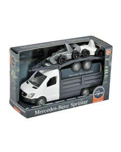 """Автомобіль """"Mercedes-Benz Sprinter"""" бортовий з лаветом (білий), Tigres 39670"""