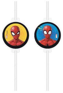 Паперові соломинки Spiderman /Людина павук (4 шт), 90731