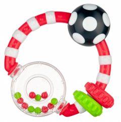 Брязкальце з кольоровими кульками, Canpol Babies 56/145 (червона)