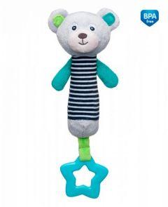 М'яка іграшка-пищалка з прорізувачем Bears (сіра), Canpol babies 68/055_grey