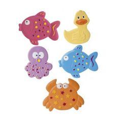 Набір міні-килимків для купання малюка Canpol Babies Кольоровий Океан (5 шт ) 80/003