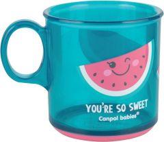 Дитяча чашка з антиковзаючим покриттям (170 мл), Canpol babies 2/100 (кавун)