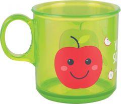 Дитяча чашка з антиковзаючим покриттям (170 мл), Canpol babies 2/100 (яблуко)