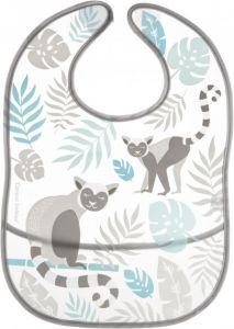 Слюнявчик с кармашком (серый), Canpol Babies Jungle 9/238_grey