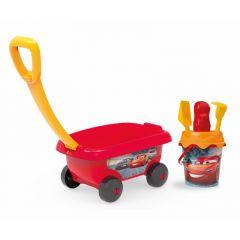 """Візок з набором для піску """"Cars"""", 6 ел., Smoby 867000"""