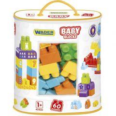 """Конструктор Baby Blocks """"Мої перші кубики"""" (60 ел.), Wader 41410 (в сумці)"""