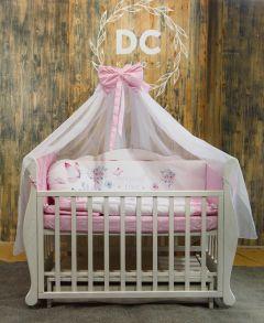 """Комплект для ліжечка """"Метелик"""" (рожевий), БК-056, DC Kids"""