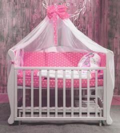 """Комплект для ліжечка """"Лисичка"""" (рожевий), БК-061, DC Kids"""