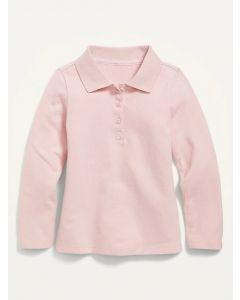 Реглан-поло з тканини піке для дівчинки