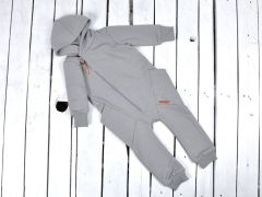 """Трикотажный человечек с махровой нитью внутри """"Торнадо"""" (серый), 1205"""