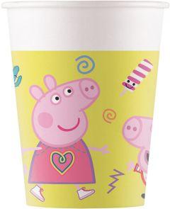 Паперові стаканчики PEPPA PIG / Свинка Пеппа 200 мл (8 шт), 91033