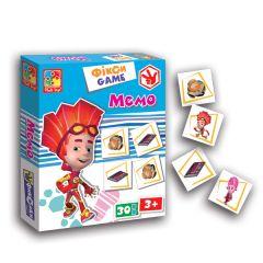 """Настільна гра """"Фікси ігри"""" МЕМО """", Vladi Toys VT2107-06"""