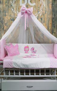 Комплект для ліжечка (рожевий), БК-054, DC Kids