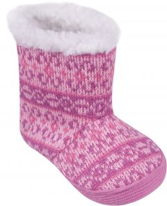 Пінетки-чобітки для дитини рожеві,YO OB-030