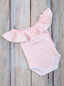 Боді з воланом для дівчинки (рожевий), MagBaby 1006