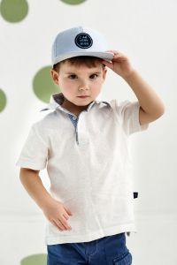 """Стильна кепка для хлопчика """"Ернесто"""", 21.03.012 (блакитна)"""