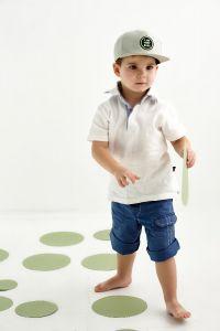 "Стильна кепка для хлопчика ""Ернесто"", 21.03.012 (оливкова)"