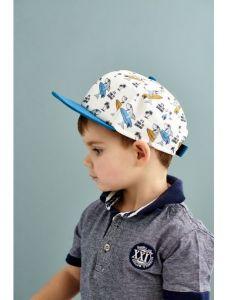 """Стильна кепка для хлопчика """"Санчо"""", 21.03.010 (синя)"""