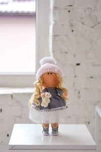 """Текстильна лялька ручної роботи """"Роуз""""  ДекоЛад"""