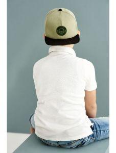 """Стильна кепка для хлопчика """"Освальдо"""", 21.03.004 (оливкова)"""
