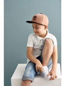 """Стильна кепка для хлопчика """"Освальдо"""", 21.03.004 (коричнева)"""