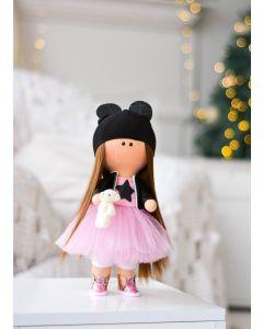 """Текстильна лялька ручної роботи """"Алекса""""  ДекоЛад"""