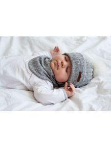 """Набір """"Ріо"""" для хлопчика, сірий (шапка і хомут), 21-01-019"""