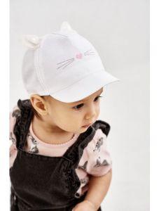 """Літня кепка для дівчинки """"Ліна"""" 21.03.008 (молочна)"""