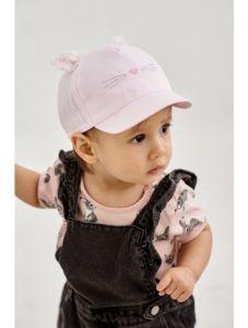 """Літня кепка для дівчинки """"Ліна"""" 21.03.008 (рожева)"""