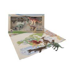 Обучающий игровой набор с QR-картой - ДИНОЗАВРЫ МЕЛОВОГО ПЕРИОДА,Wenno  WRD1701