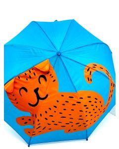 """Дитяча парасоля з 3D вушками """"Котик"""""""