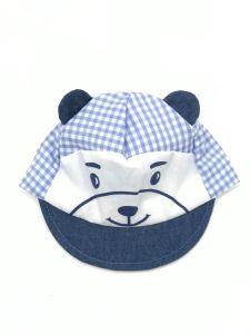 Літня кепка для хлопчика (голубі квадратики), Мамина мода Б001